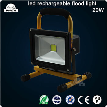 20w outdoor portable led work lights flood light led battery