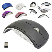 Hot Ultrathin 2.4GHz Foldable Wireless Arc Optical Mouse Mice with Mini USB Receiver for Pad PC Laptop Notebook Computer