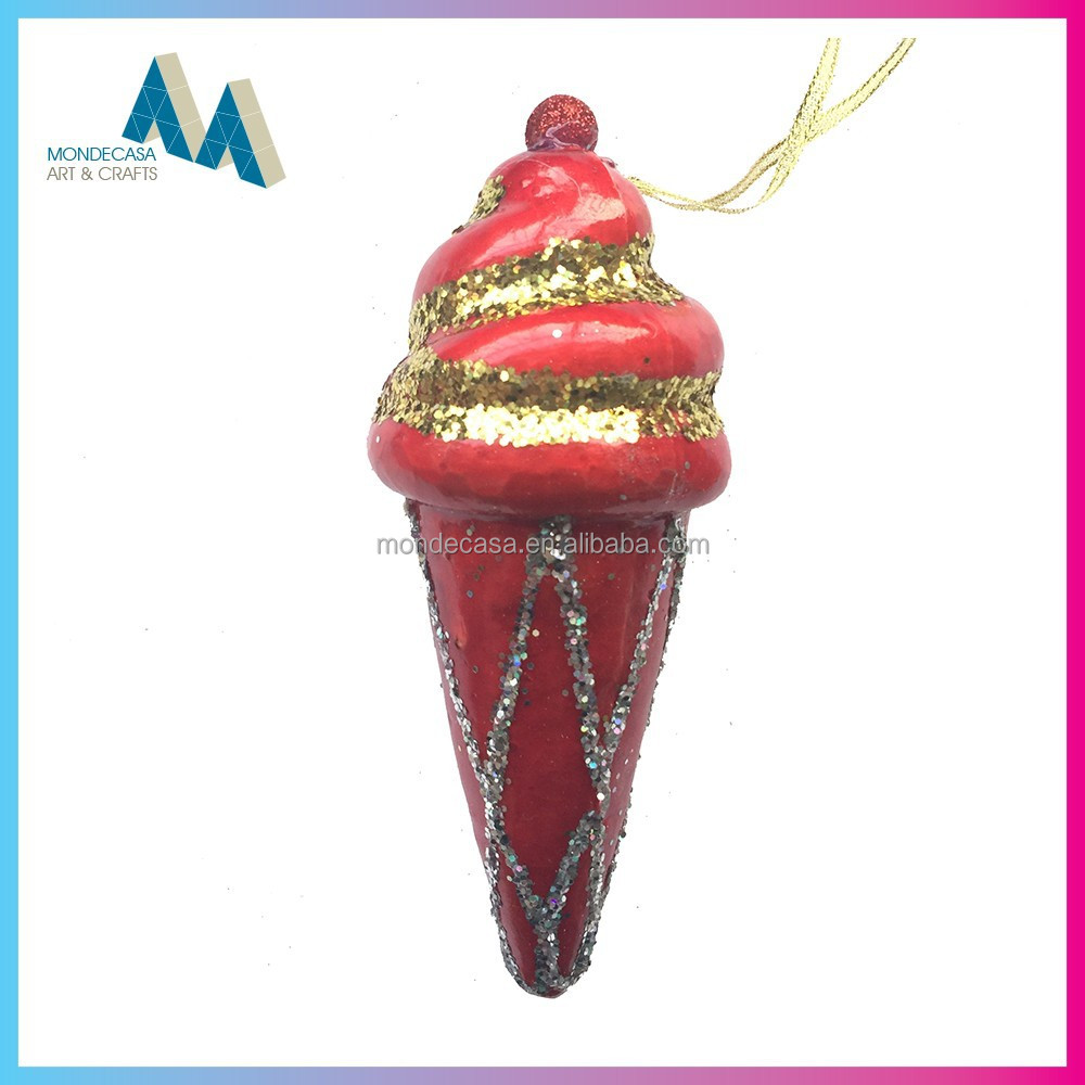 alibaba china manufacturer christmas tree hanging ball ice cream decoration