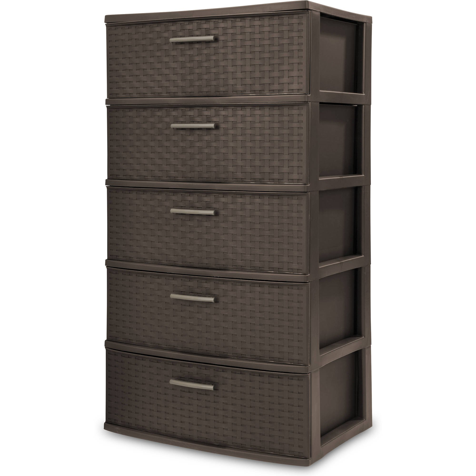 Get Quotations · Sterilite 5 Drawers Wide Weave Tower Plastic Storage Organization- BrownEspresso  sc 1 st  Alibaba : storage towers with drawers  - Aquiesqueretaro.Com