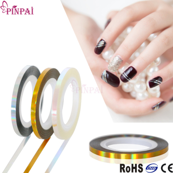 Pinpai brand nail art supplies striping tape line korea gel nail polish sticker