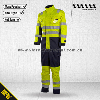 EN ISO 11612/EN ISO 20471 Multinorm Protective Flame Retardant  Coverall/Mutil summer coveall
