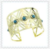Wholesale Fashion Jewelry 14k Gold Cuff Bracelet/ Wide Cuff Bangles Bracelets