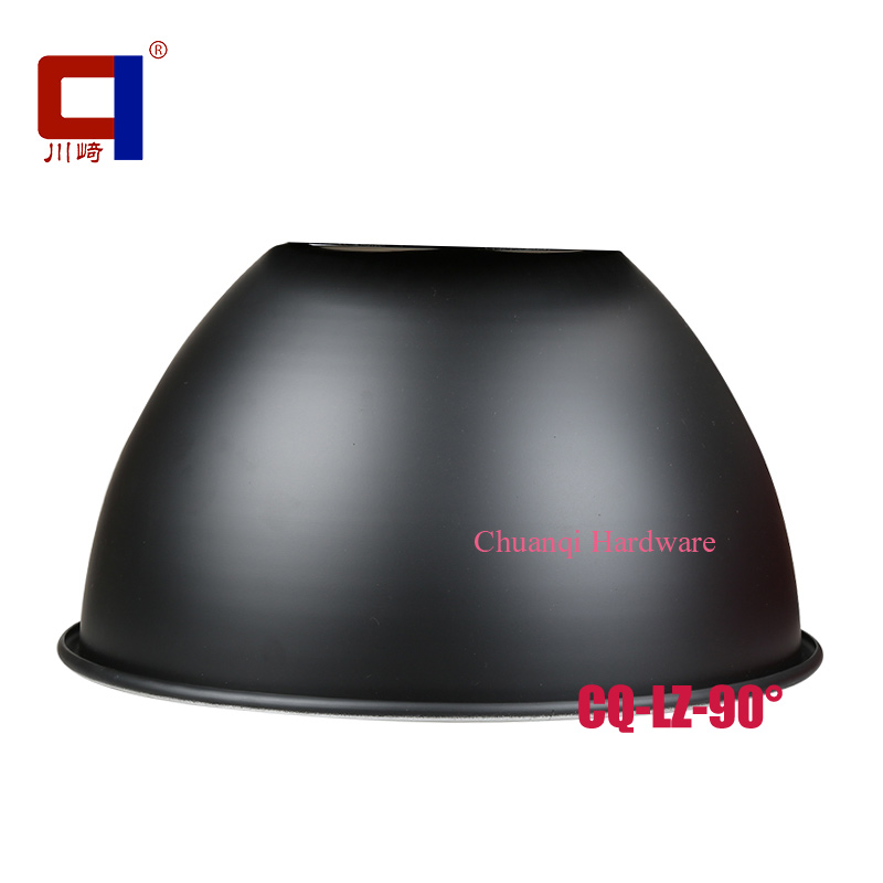 90 Degree Black Anodized Aluminum Outdoor High Bay Light Reflector