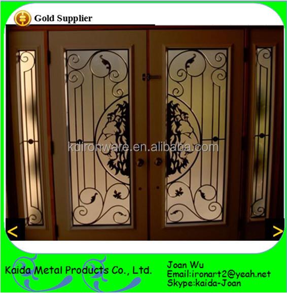 Beautiful Wrought Iron Door Grills Design