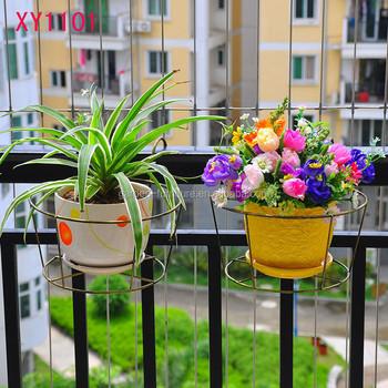 Xy1101 Metal Hanging Flower Pot Balcony Tub Pot Hook Hanging Buckets
