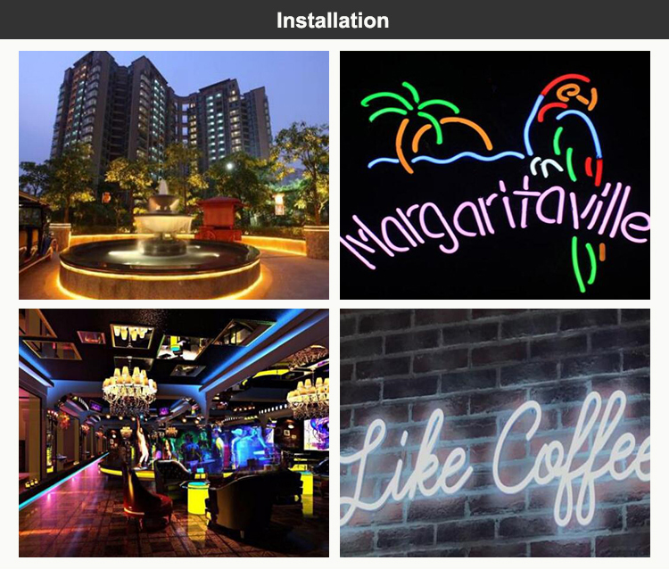 Silicone outdoor led christmas light neon sign rope flex light lamp