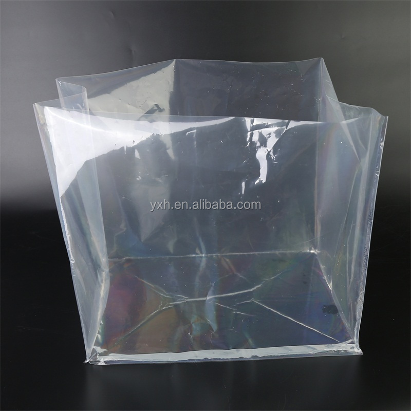 New type household Super big clear square bottom bag breathable plastic blue cubic vci with long life