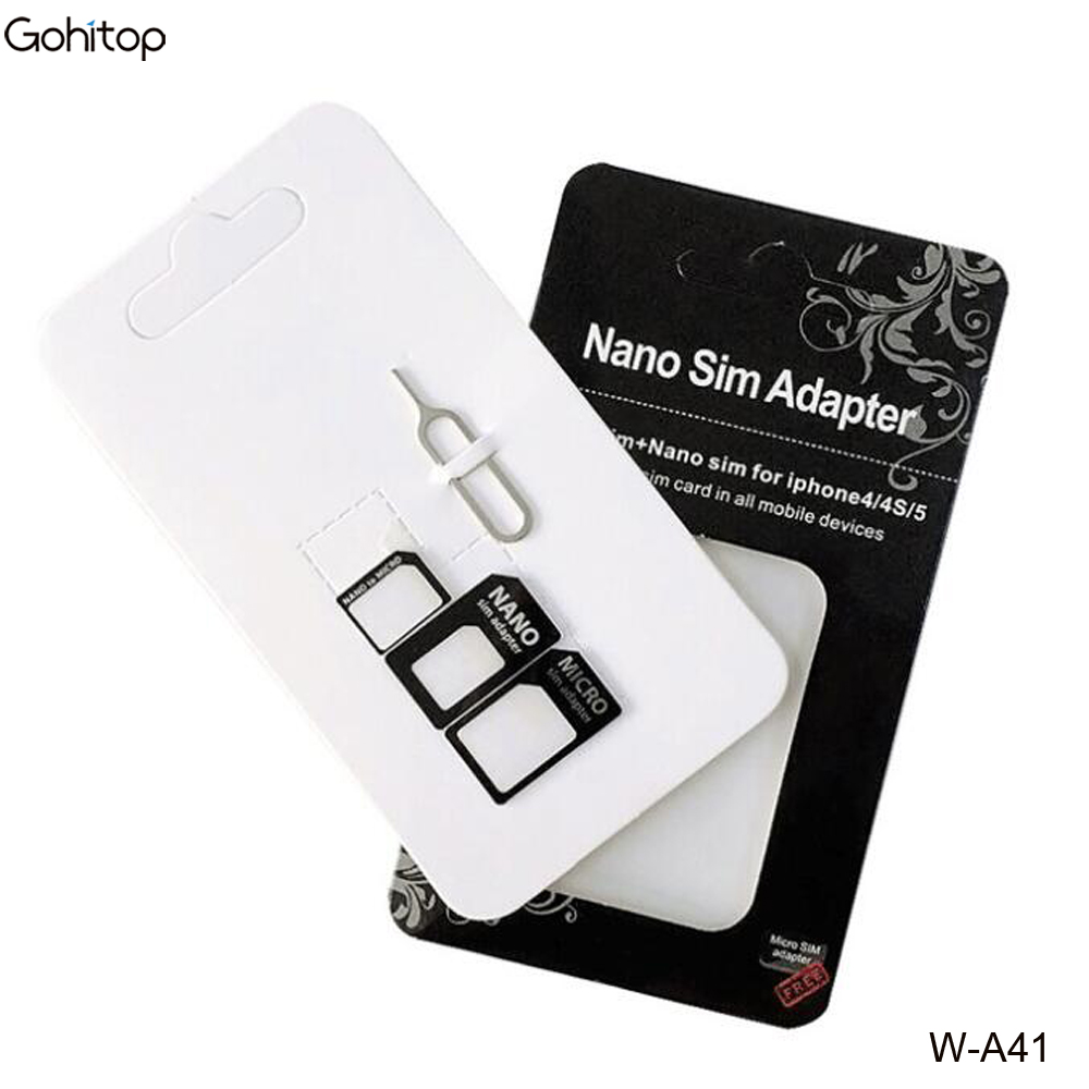 4 in 1 SIM Card Adapter Kit for Smart Phone, SD Card SIM Adapter