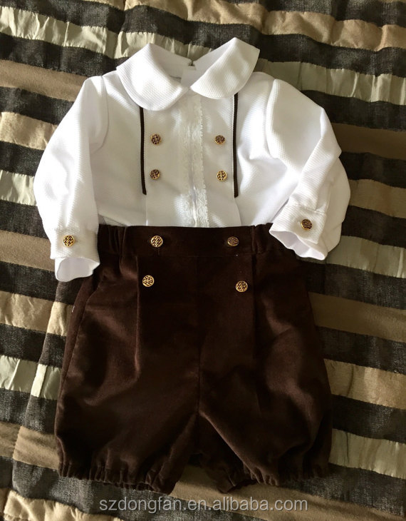Baby Boys Posh Clothing Children White Chevron Shirts And Pants Outfit Baptism Sets