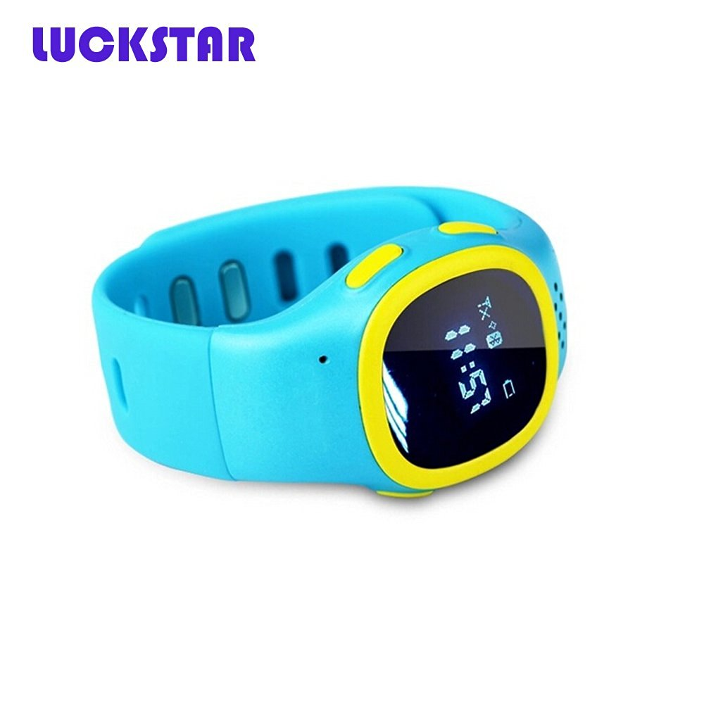 LUCKSTAR(TM) The Second Wi-Fi Version GPS Positioning SOS Emergency Call Smart Watch Wrist Watch For Kids Children Student (Blue)