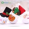 Hot toys Christmas 2019 new products gift items transparent Santa Claus Snowman Reindeer Christmas led lighted ball