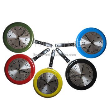 10 Inch Frying Pan Wall Clock Modern Kitchen Metal Clock For Art Decor -  Buy Clock,Wall Clock,Frying Pan Wall Clock Product on Alibaba.com