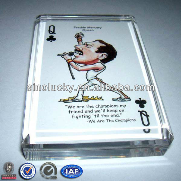 Wholesale Acrylic photo frame paperweight