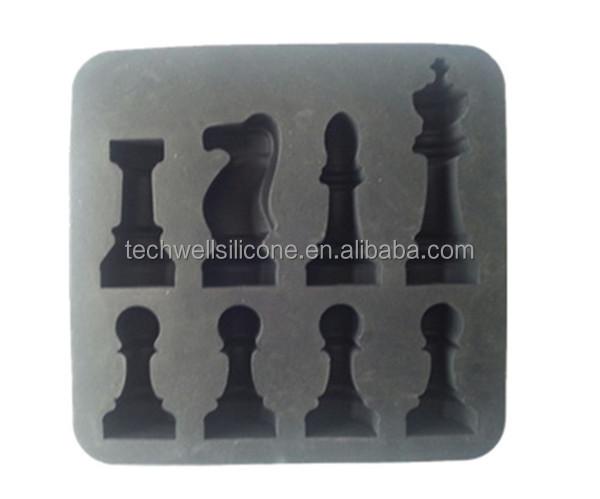 Molde de silicona flexible para figuras de ajedrez