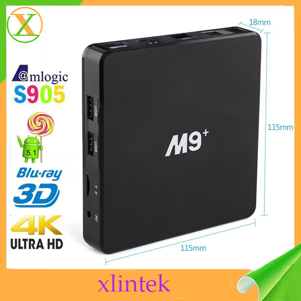 2016 high quality quad core 1gb ddr 8gb emmc M9+ amlogic S905 m8 m8s cable tv set top box