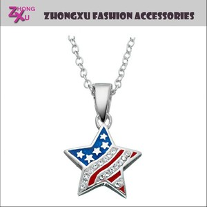 new custom The Old Glory Stars and the Stripes American flag USA pendant necklace jewelry