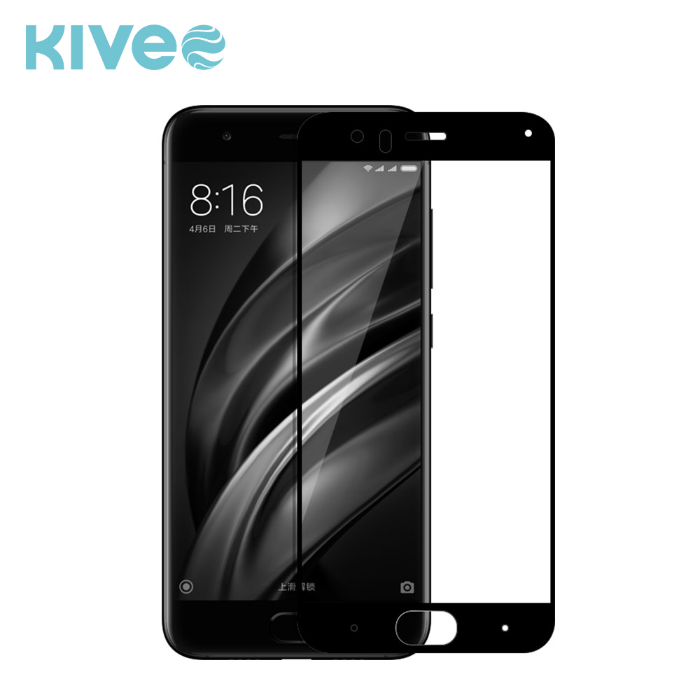 KIVEE Tempered Glass Full Coverage Ultra Clear Film Protect Shield Screen Protector for Xiaomi 6 / Mi6 Mi 6