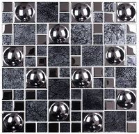 Decor Electroplated Glass Mesh-mounted Mosaic Tile Sheet for Kitchen Backsplash Bathroom Wall and Swimming Pool