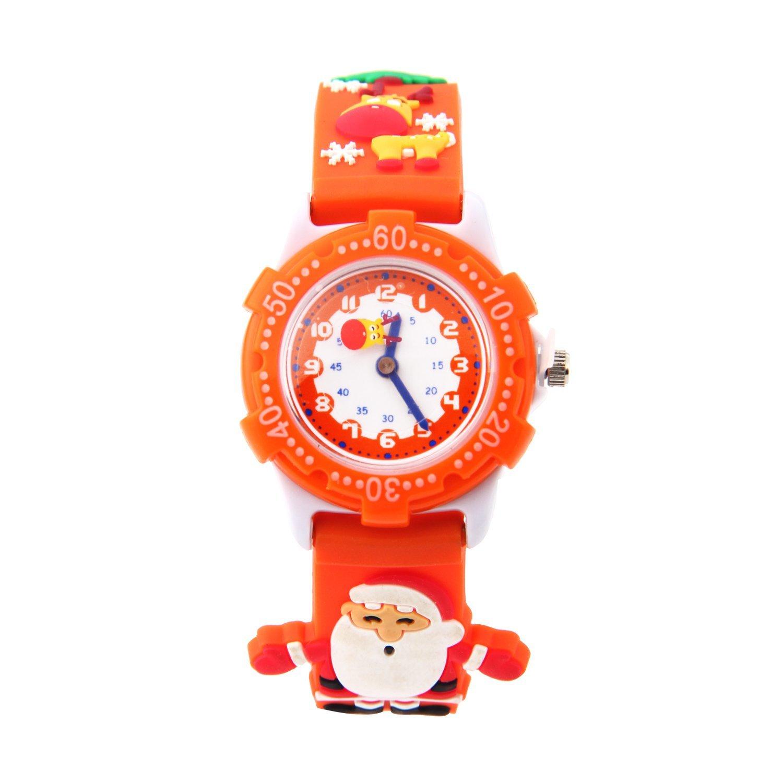 5619aab104e Get Quotations · ELEOPTION Waterproof Kids Watches Children Analog Quartz  Wristwatches 3D Cute Cartoon Design With Super Soft Silicone