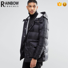 Custom Windproof Outdoor Padded Parka Men Winter Jacket Coat