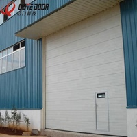Modern chinese commercial industrial sectional sliding overhead garage interior roller shutter door