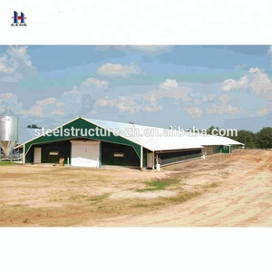 Prefab Light Steel Structure Layer Chicken Poultry Farm House Construction Shed Design Building
