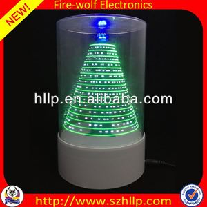 2014 hot sale wholesale led 3D usb christmas tree ornaments polymer clay manufacture