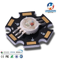 Surface Mount Package Type 3W RGB LED Bead With 20mm PCB Board