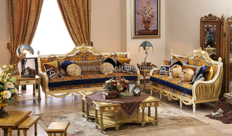 Vintage Wood Carving Sofa Set With Single Chair,Replica Palace ...
