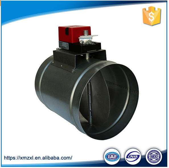 Motorized Air vent round duct damper