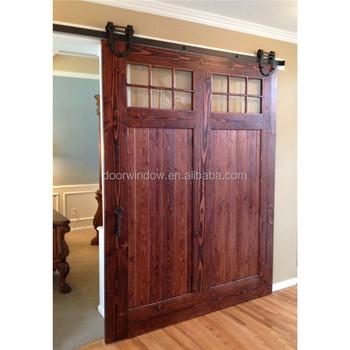 Interior Wood Partition Design Glass Insert Wooden Barn Door Buy