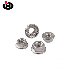 High Quality GB6177 Hexagon Flange Nut M3 Zinc Plated Nuts From Professional Fastener Manufacturer
