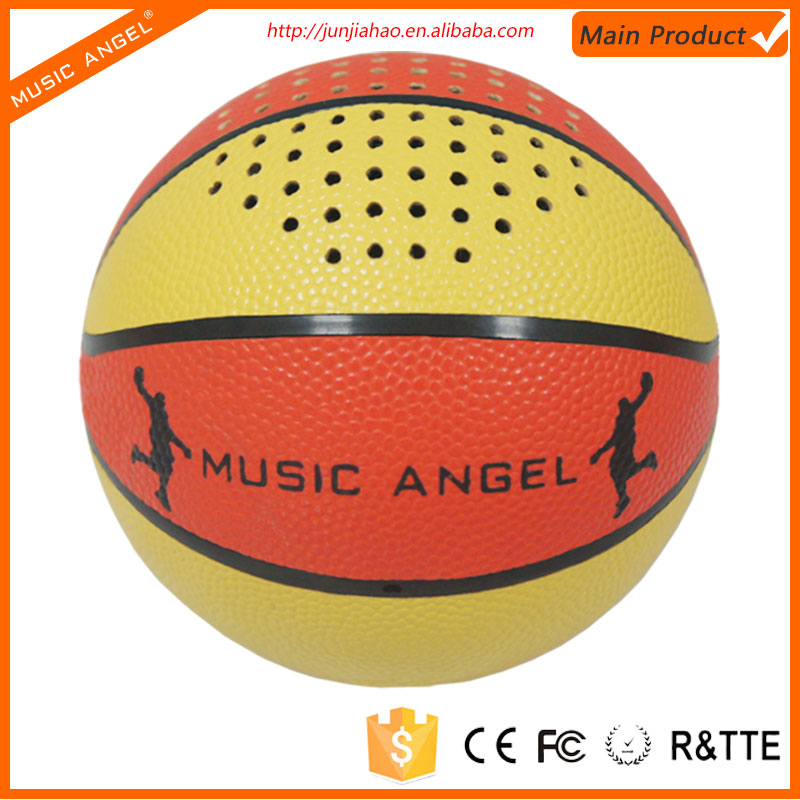 2016 Gadgets gift palm size round basketball bluetooth speaker