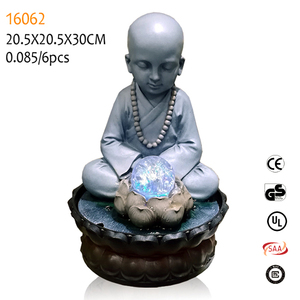 3d buddha indoor fountains resin zen buddha for buddha garden