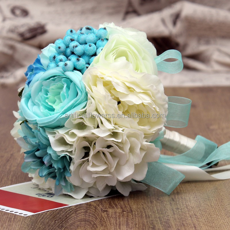 Artificial Fabric Flowers Peony Diy Wedding Bridal Bouquet 18 - Buy ...