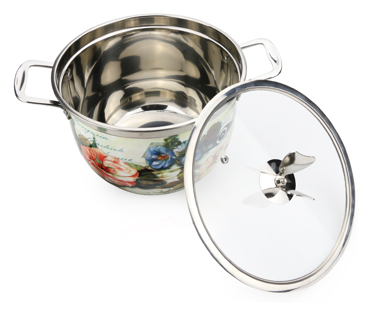 wholesale korean style soup pot set stock pot set cooking pot set for stainless steel kitchen ware