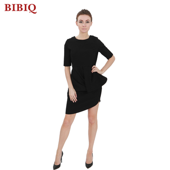 dcd4568be393 Latest Design Sexy Black Half Sleeves Short Semi Formal Dresses 2018 ...