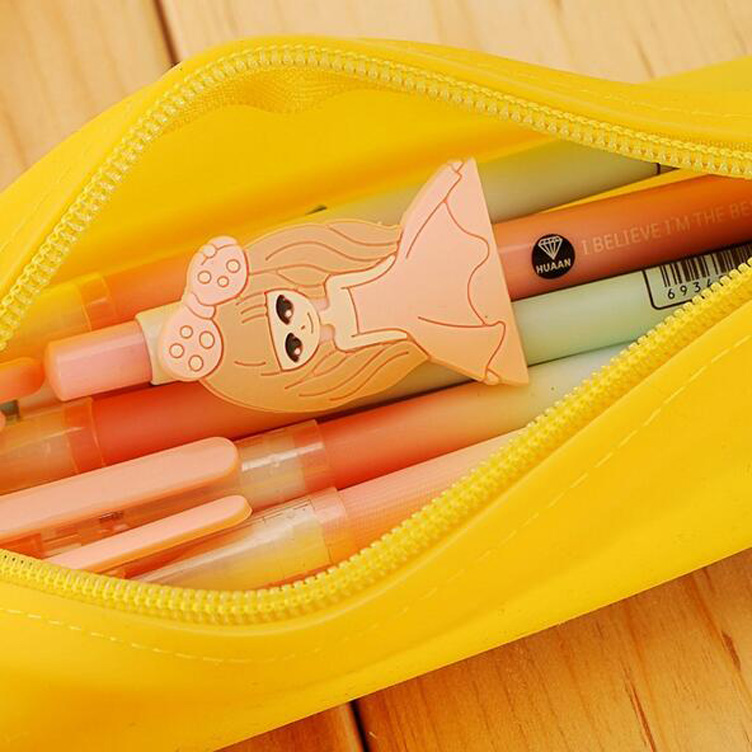Silica gel zippered pencil case nursery school primary school pencil case