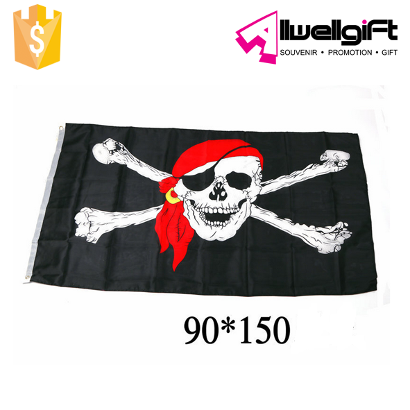 Pirate flag Halloween Bunting Banner Happy Halloween Banner Party Decoration
