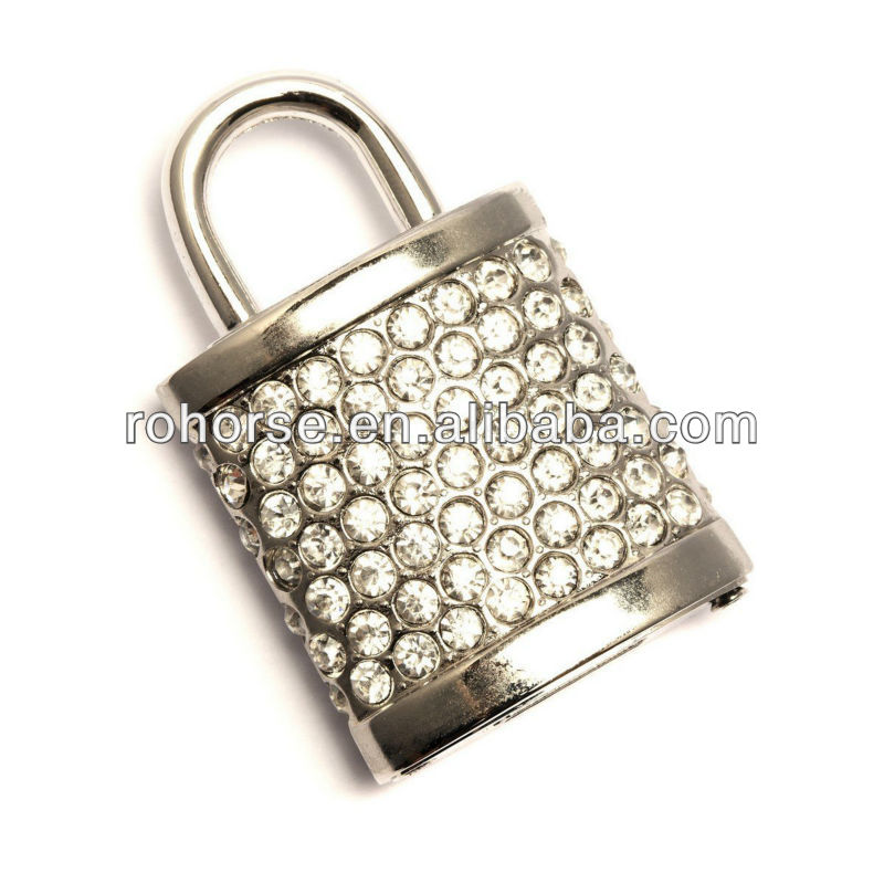2GB Sparkly Padlock Novelty USB Flash Drive/Memory Stick/Pen/Gift/Present/Stocking