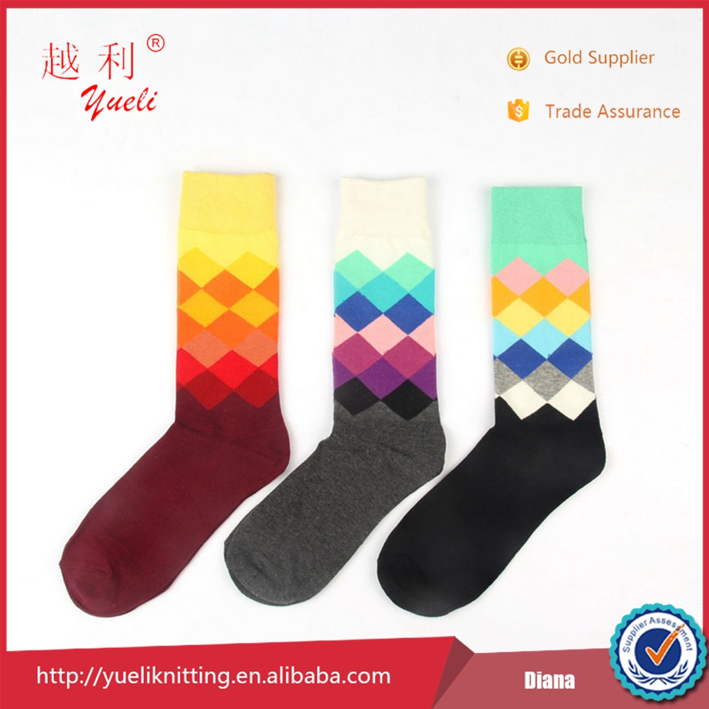 China custom man socks manufacture wholesale happy young boy tube sock