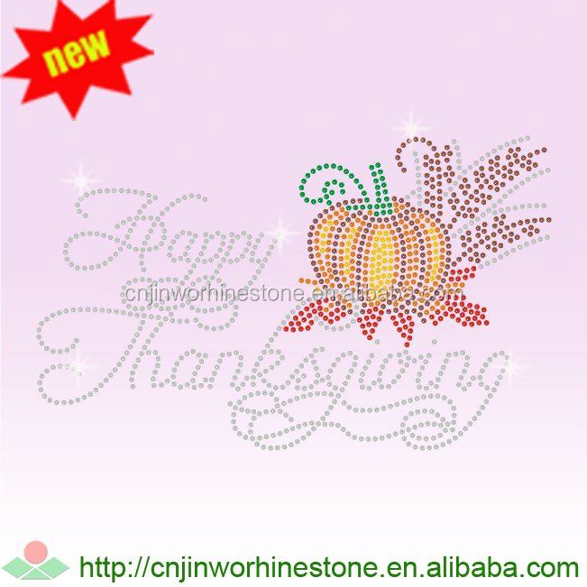 iron on rhinestone custom thanksgiving day transfer (11)
