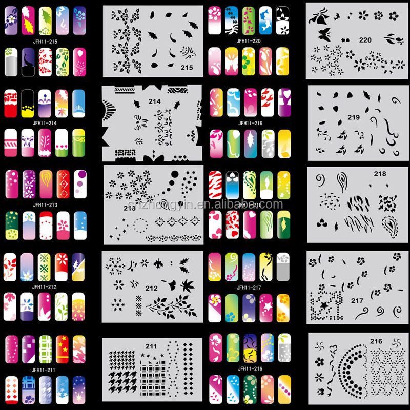 2015 New Large Ble Water Decal Nail Stickers Cartoon Design Nail ...