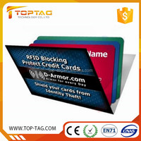 Personalized business gift RFID blocking card/master card scanner guard