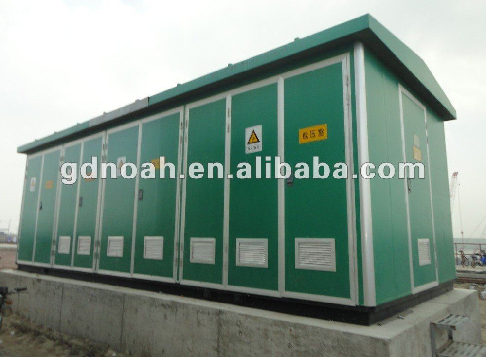 11kv 33kv european box type outdoor electric power distribution substation