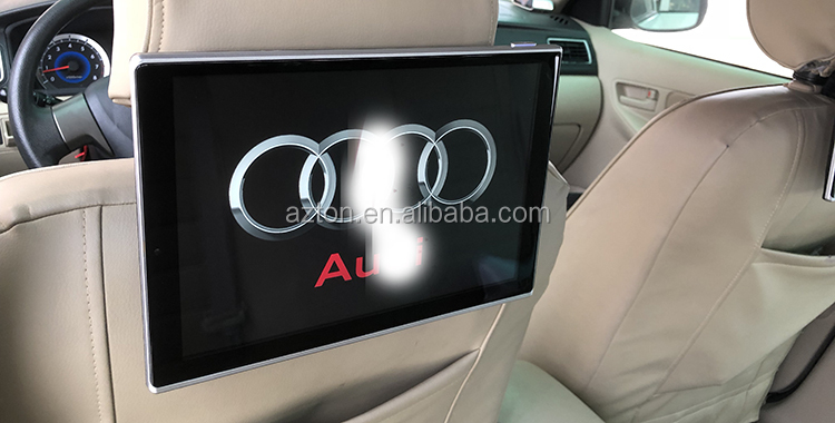 Set of two Big Screen 11.8 inch Flip-down Car Monitor Seat Headrest TV Touch Screen DVD game MP3 / MP4 Players For AUDI