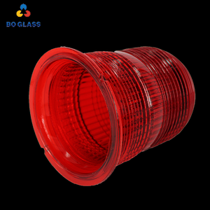 China Supplier Pressed Tempered Marine Red Flare Signal Glass Dome for Led Light