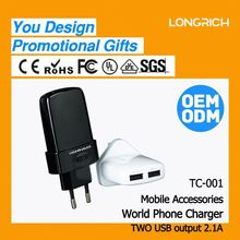 2012 High Quality Cell Phone Battery Charger for Charging Port (TC001)