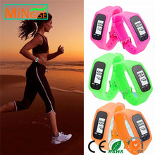 2017 best selling silicone bracelet pedometer step counter calories smart pedometer watch